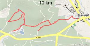 Strecke 10 km
